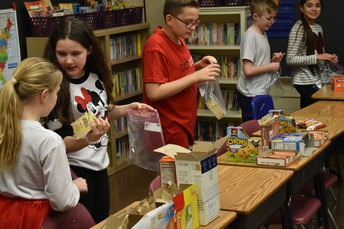 Great job 5th Grade for making all of those lunch bags for the hungry.
