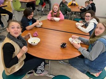 6th Grade Girls enjoying their reward
