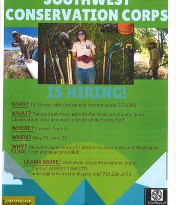 Southwest Conservation Corps - Jobs for 14-18 year olds