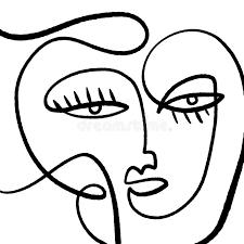 single line portrait