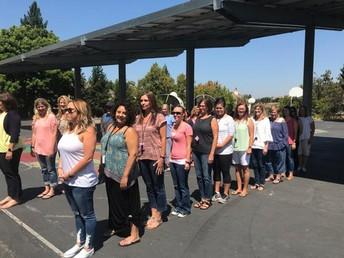 Teachers Demonstrating Safe Lines for Children