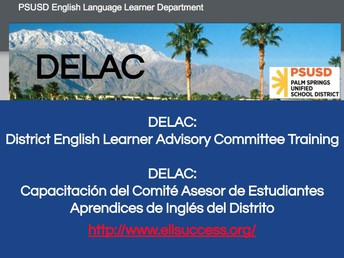 District English Learner Advisory Committee (DELAC)