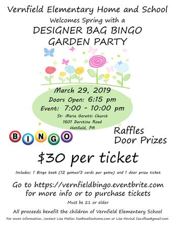 Designer Bag Bingo - TONIGHT