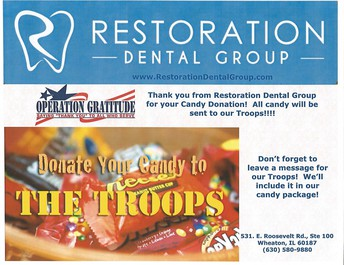 Donate Halloween candy to the troops