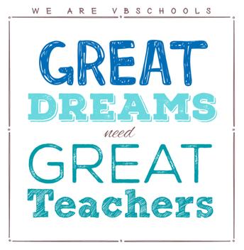 Great Dreams Need Great Teachers!