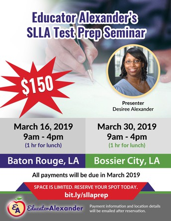 LAST CHANCE TO REGISTER FOR SLLA 6011 Educational Leadership Certification Test Prep Sessions!