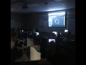 Students watching totality live streamed!