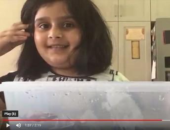 Shaima shares her foil boat creation