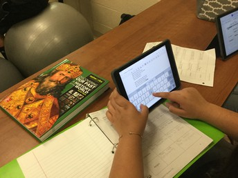 Students use their iPads to create!