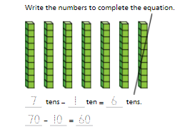 Topic 11-Use Models and Strategies to Subtract 10