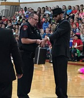 Nefarious Characters showed up at the Pep Rally