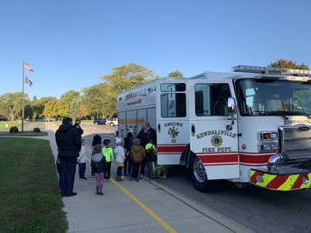 Pre-School visit from the fire department
