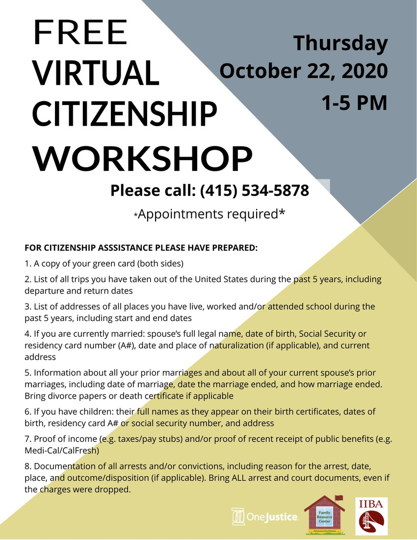 Free Virtual Citizenship Workshop (English)