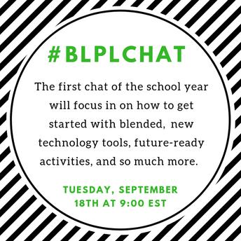 #BLPLChat at 9:00 PM  September 18, 2018