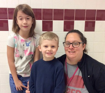 Picture of Dixie Moyers, Luke Green and Mrs. Wilhelm JRFH 2019