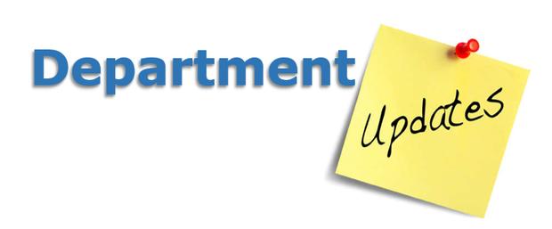 Department Updates