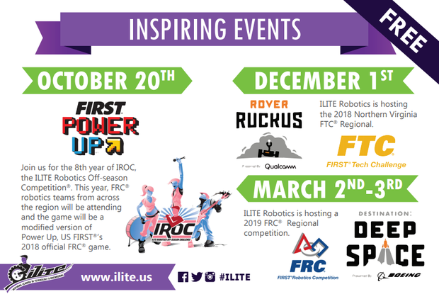 Ilite flyer of upcoming events