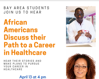 April 13th @4pm African Americans discuss paths to Careers in Healthcare
