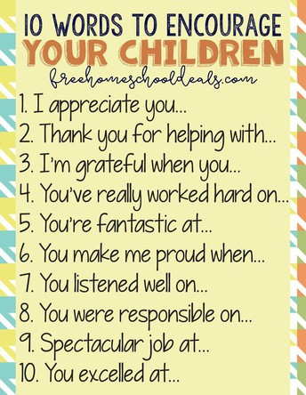 50 Things You Can Say To Encourage A Child