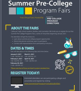 Summer Pre-College Program Fair