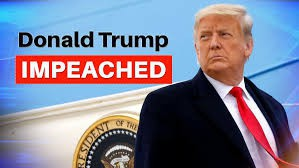 Donald Trump and the words Donald Trump Impeached