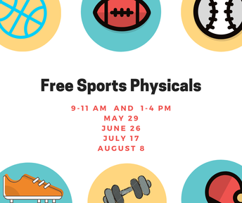 FREE Sports Physicals for the 2019-2020 School year.