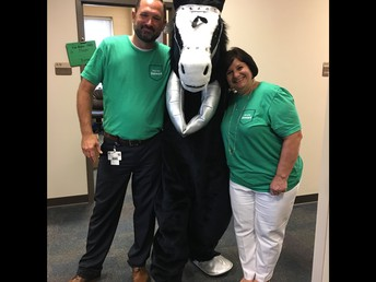 Silver stopped to pose with Dr. English and Mr. Harness on Meet the Teacher Night