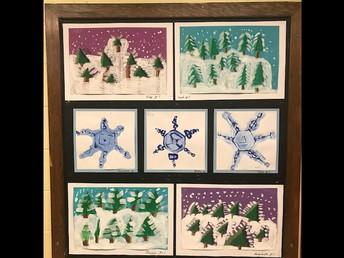 Winter Art Display