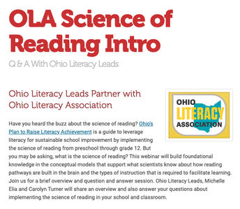 Introduction to the Science of Reading - Q & A With Ohio Literacy Leads