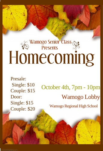 Homecoming Dance - Oct. 4