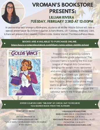 Special Event! A Visit With Author Lilliam Rivera!