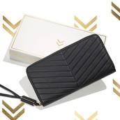 Covet Mercer - Embosssed Black Leather - SOLD