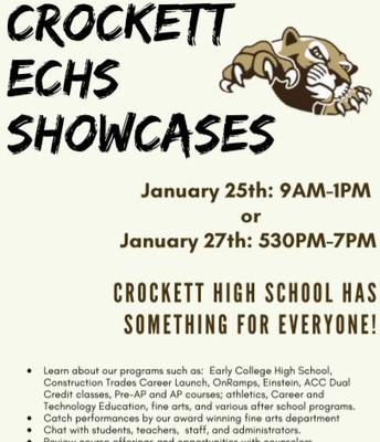 Crockett ECHS Showcase