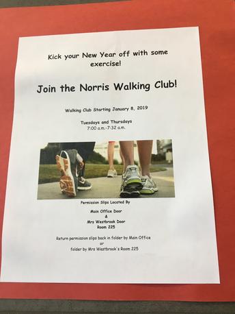 Walking Club Begins!