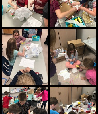 Egg Drop Experiment in Kinder and 2nd Grade!