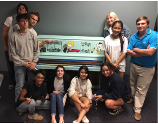 Art Club Participates in Keys for Kids Service Project
