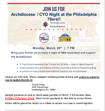 2018 CYO Night at the Sixers