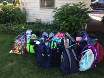 United Way's Blooming Backpacks Event