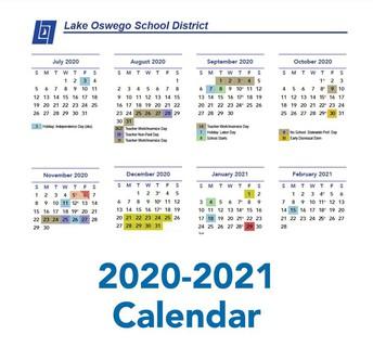 image of school calendar