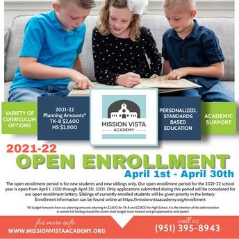 Steps for 2021-2022 Enrollment