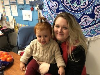 Delaney Trejo and her baby Luca