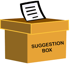 Suggestion Boxes: Please give us ideas to help improve GMS!