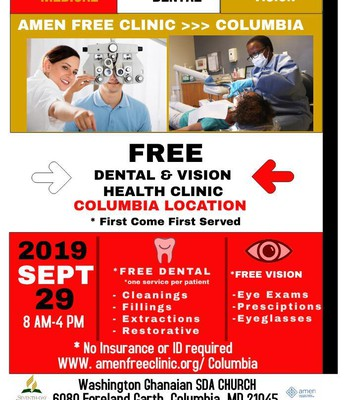 Free Dental & Vision Health Clinic