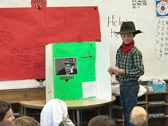 3rd graders Living Museum presentations