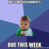 Assignments Due Wednesday (4/26/17)