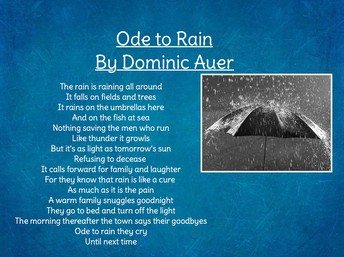 Ode to Rain by Dominic A.