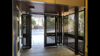New entrance gate and security fencing