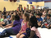 Students learning all about our fall fundraiser!