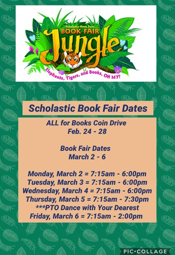 ALL for Books Coin Drive, Book Fair, & PTO Dance with Your Dearest