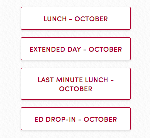 October lunches and extended day